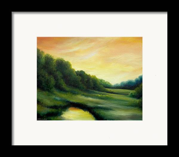 Clouds Framed Print featuring the painting A Spring Evening Part Two by James Christopher Hill