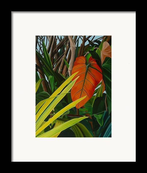 Floral Framed Print featuring the painting A Spring March by Sunhee Kim Jung