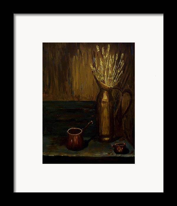 Stil Lite Framed Print featuring the painting A Still Life II by Mats Eriksson