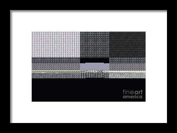 Digital Framed Print featuring the digital art A Stitch In Time by Thomas Smith