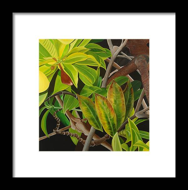 Floral Framed Print featuring the painting A Stroll In The Forest by Sunhee Kim Jung