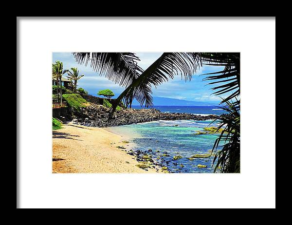 Maui Framed Print featuring the photograph A Stunning Maui Beach by Kirsten Giving