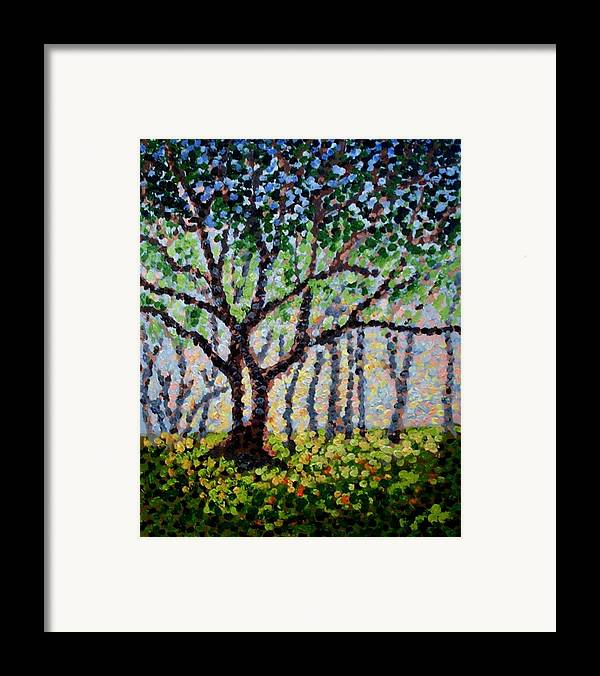 Nature Framed Print featuring the painting A Summer Forest by Mats Eriksson