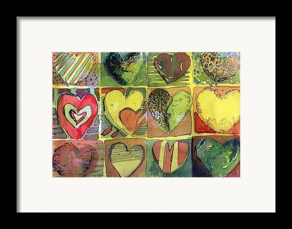 Valentine Framed Print featuring the painting A Sunny Valentine by Mindy Newman