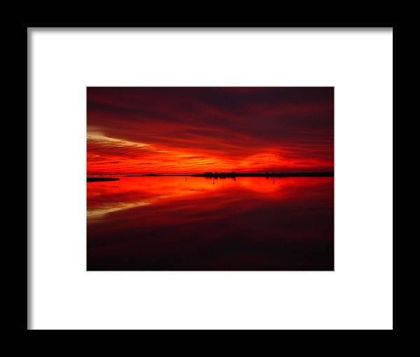 Sunset Framed Print featuring the photograph A Sunset Kiss -debbie-may by Debbie May