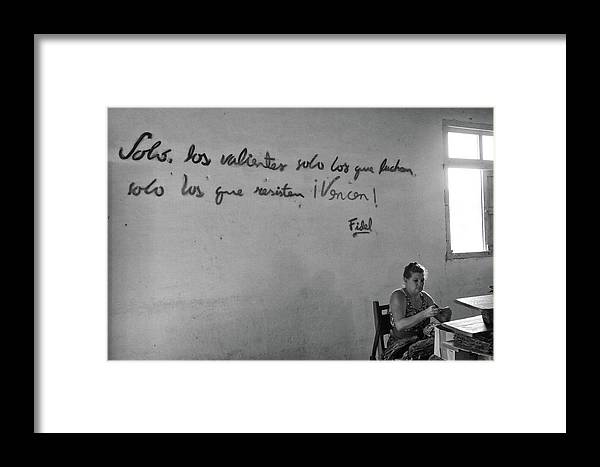 Cuba Framed Print featuring the photograph A Sweat Shop by Mary Buck