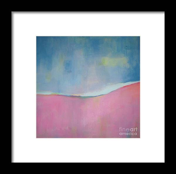 Abstract Framed Print featuring the painting A Sweet Day by Vesna Antic
