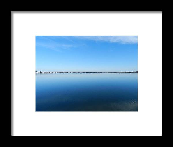 Blue Skys Framed Print featuring the photograph A Thin Line by ML Everhart