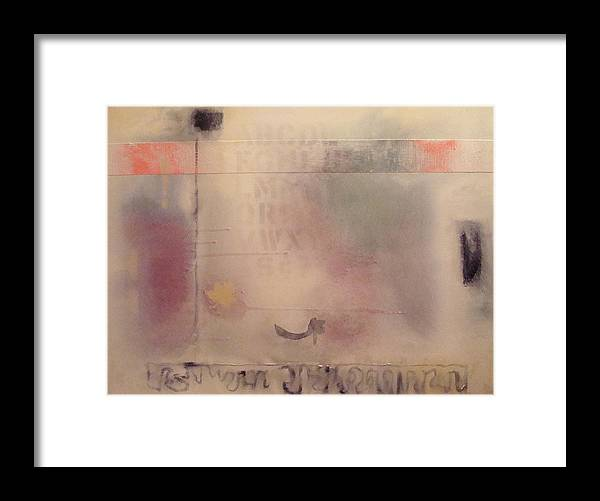 Abstract Framed Print featuring the painting A Thought Of Stillness by W Todd Durrance