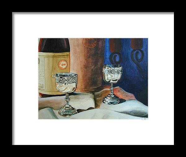 Still Life Framed Print featuring the painting A Toast by Dwight Williams