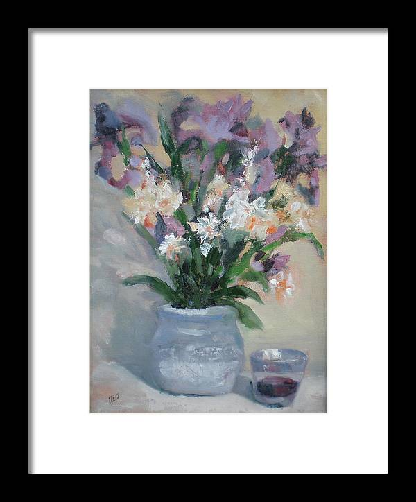 Still Life. Awarded Blue Ribbon At July 2007 Framed Print featuring the painting A Toast To Rose by Bryan Alexander