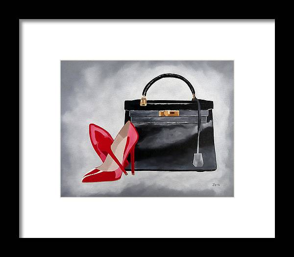 Fashion Framed Print featuring the mixed media A Touch Of Class by My Inspiration