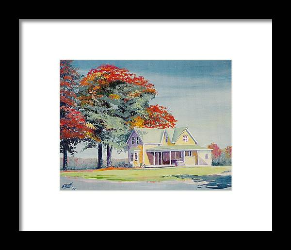 Landscape Framed Print featuring the painting A Touch Of Fall by Barry Smith