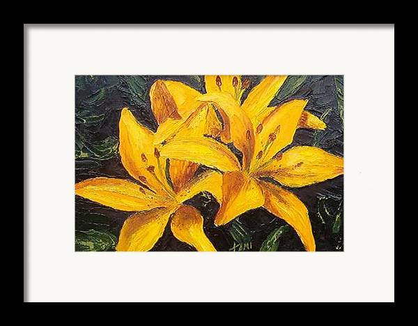 Framed Print featuring the painting A Touch Of Gold by Tami Booher