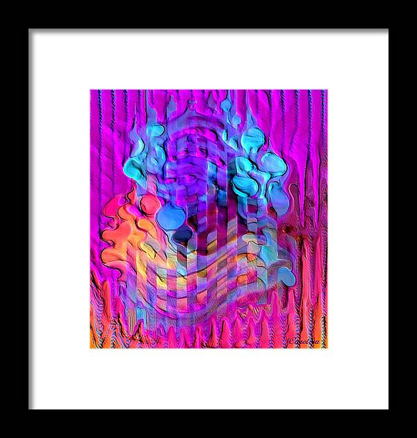 Relief Framed Print featuring the digital art A Touch Of Russia by Carola Ann-Margret Forsberg