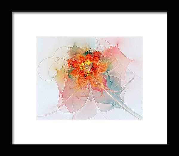 Digital Art Framed Print featuring the digital art A Touch Of Spring by Amanda Moore