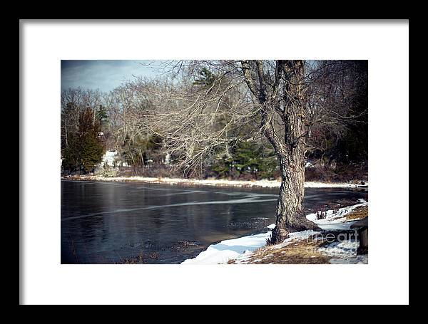 A Trace Of Snow Framed Print featuring the photograph A Trace Of Snow by John Rizzuto