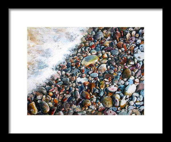 Stones Framed Print featuring the painting A Treasure Between by William Brody