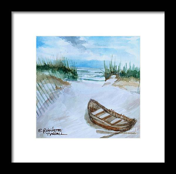 Landscape Framed Print featuring the painting A Trip To The Beach by Elizabeth Robinette Tyndall