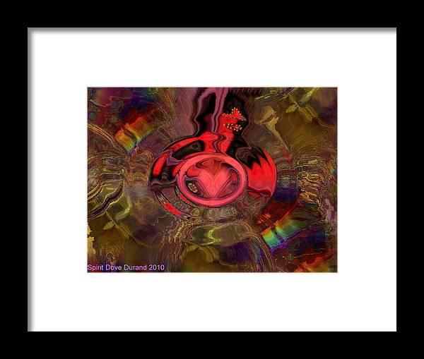 Jesus Framed Print featuring the digital art A True Kings Heart by Spirit Dove Durand