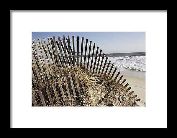 Bethany Beach Framed Print featuring the photograph A Twisted Arch Of Snow by Stephen St. John