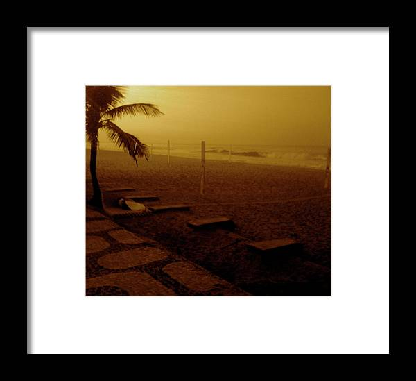 Framed Print featuring the photograph A Vida E A Praia by Fernanda Camacho