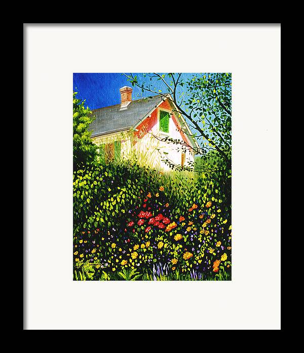 Monets House Framed Print featuring the painting A View Of Monets House In Giverny France by Gary Hernandez