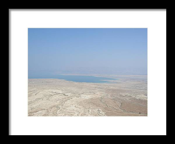Israel Framed Print featuring the photograph A View Of The Dead Sea From Masada by Susan Heller