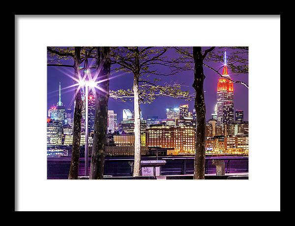 Empire State Building Framed Print featuring the photograph A View To Behold by Az Jackson