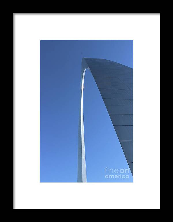 Arch Framed Print featuring the photograph A View To The Top by Nicole Engelhardt