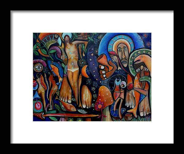 Vision Paintings Framed Print featuring the painting A Vision Of Christ by Andrew Osta