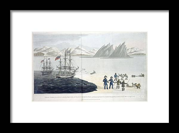John Ross Framed Print featuring the painting A Voyage Of Discovery by Celestial Images