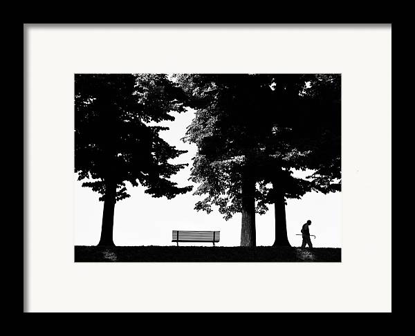 Nature Framed Print featuring the photograph A Walk In The Park by Artecco Fine Art Photography