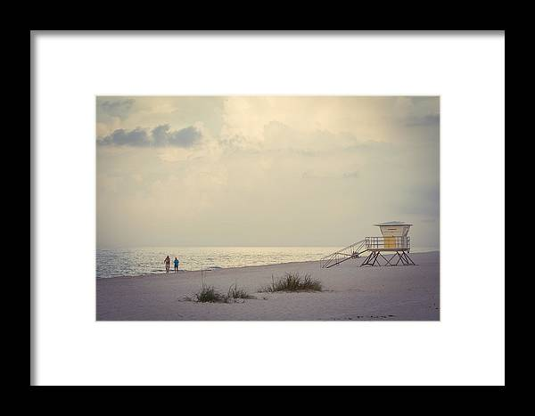 Perdido Key Framed Print featuring the photograph A Walk On The Beach by Gary Oliver