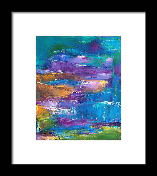 Abstract Landscape Art Framed Print featuring the painting A Walk To Remember by Johnathan Harris