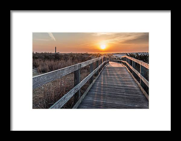 Fire Island Framed Print featuring the photograph A Walk To The Sun by Susan Knappe