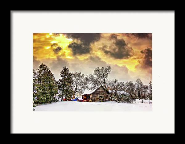 Winter Framed Print featuring the photograph A Winter Sky by Steve Harrington