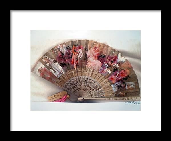 Fan Framed Print featuring the digital art A Womans World by Tammera Malicki-Wong