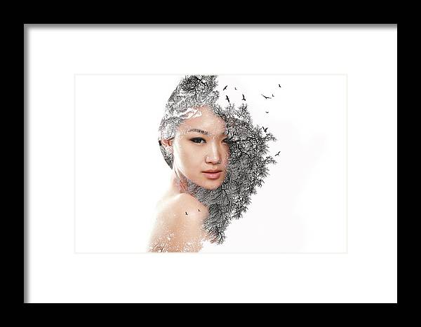 Digital Art Framed Print featuring the digital art A World Within Me by Ashfaque Khan
