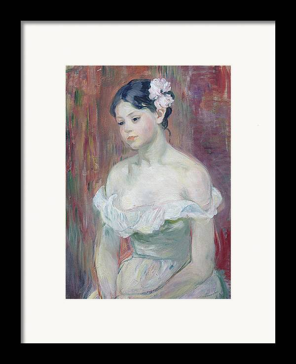 Young Framed Print featuring the painting A Young Girl by Berthe Morisot