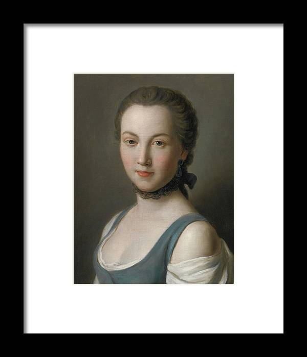 Pietro Antonio Rotari Portrait Of A Young Lady Framed Print featuring the painting A Young Lady by Pietro Antonio