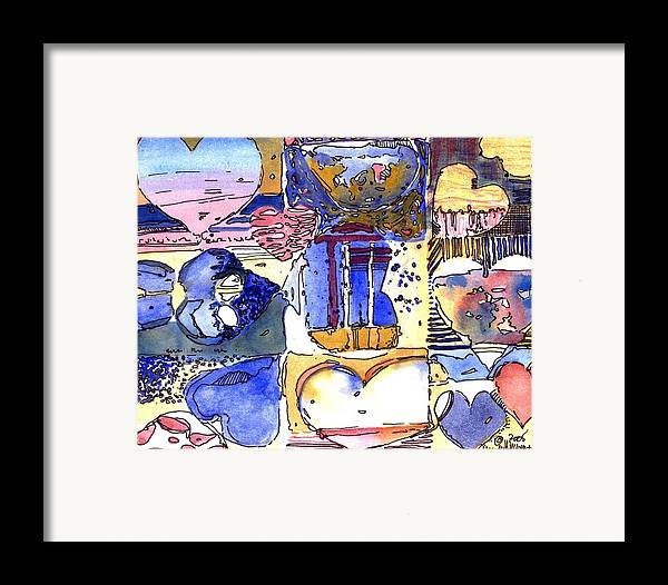 Valentine Framed Print featuring the painting A Zanny Valentine by Mindy Newman