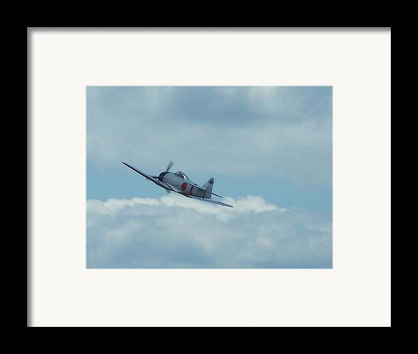 Japanese Zero Framed Print featuring the photograph A6m Zero by Gene Ritchhart