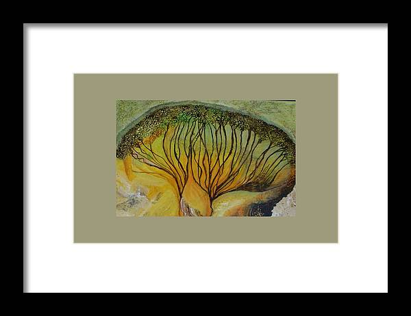 Framed Print featuring the painting AA dream by Carol P Kingsley