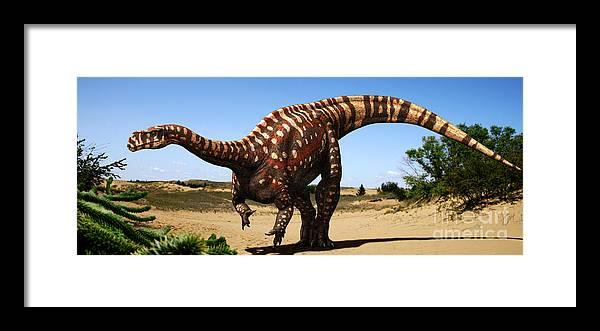 Aardonyx Framed Print featuring the digital art Aardonyx by Julius Csotonyi