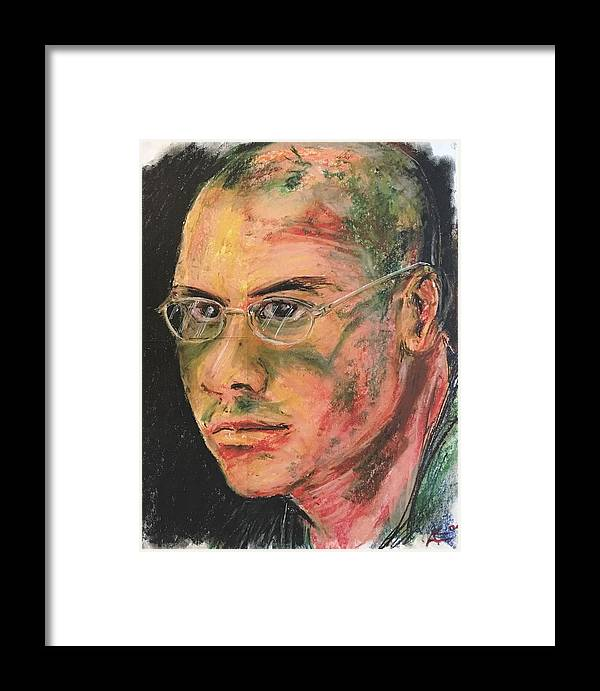 Framed Print featuring the digital art Aaron With Glasses by Alejandro Lopez-Tasso