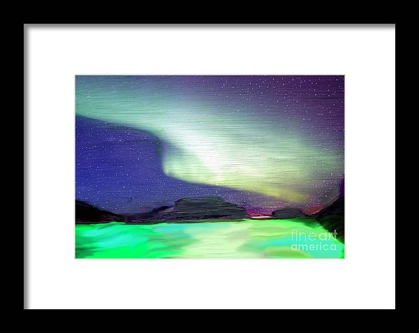 Northern Lights Framed Print featuring the painting Ab 5 by Donald Pavlica