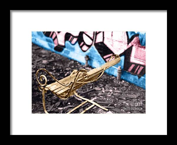 Color Framed Print featuring the digital art Abandon Wear House IIi by Simonne Mina