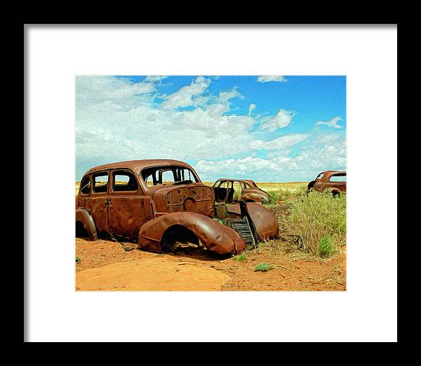 Abandoned Framed Print featuring the painting Abandoned 1 by Dominic Piperata