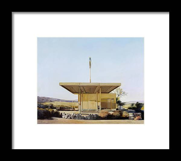 Gas Framed Print featuring the painting Abandoned 4 by Steve Metzger